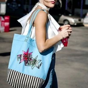 Henri Bendel GWP Limited Edition Canvas Tote Blue